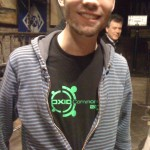 OXID Developer Meet-Up Leipzig 2011 - Joscha Krug is proud on his OXID Commons shirt